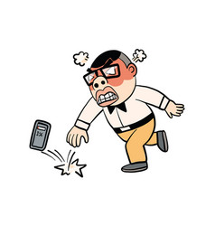 Man action cartoon vector