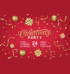 merry christmas party gorizontal poster vector image