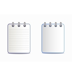 Notepad is blue in two variants vector image
