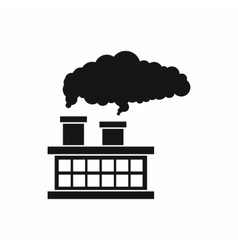 Plant pipe with smoke icon simple style vector image