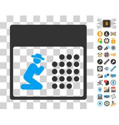 pray calendar icon with bonus vector image