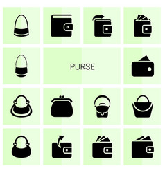 purse icons vector image