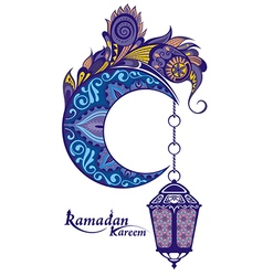 Ramadan greetings card vector image
