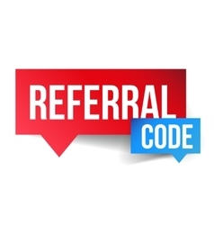 Referral Code speech bubble vector