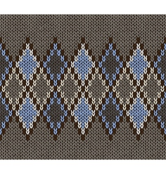 Seamless Jacquard Knitted Pattern vector image