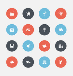Set of 16 editable holiday icons includes symbols vector