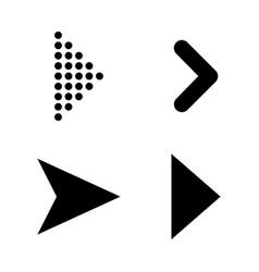 Set of black arrows arrow icon arrow icon arrow vector