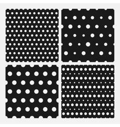 Set of senmless polka dots pattern vector