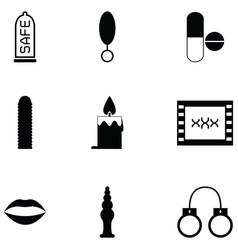 sex toy icon set vector image
