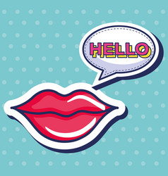 sexi woman lips icon vector image