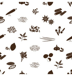 spices and seasonings icons seamless pattern eps10 vector image