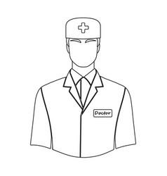 The man is a doctor in uniform medicine single vector