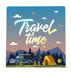 travel time colorful vector image