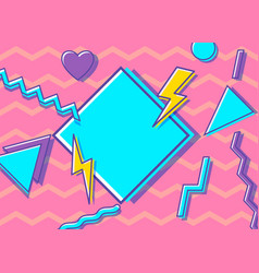 Vintage style 90s vector