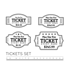 Vintage Ticket Icon vector image