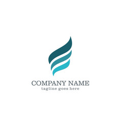 Wave abstract company logo vector