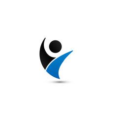 Wellness people logo design template vector