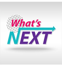 whatNext vector image