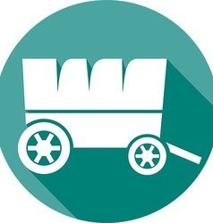 Wooden Cart Icon vector