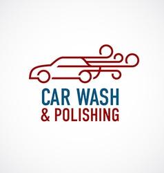 Car wash and polishing logo template vector image vector image