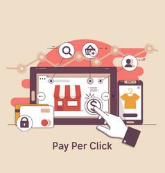 pay per click online bankinginternet marketing vector image
