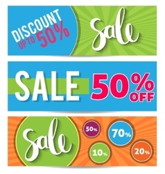 Sale and special offer Colorful background vector image