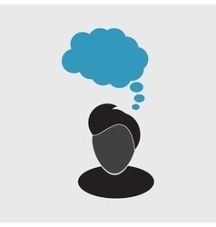 thoughts icon vector image vector image