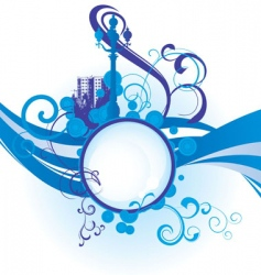 city waves image vector image