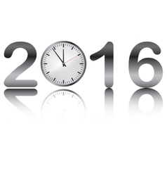 icon of 2016 New Year vector image