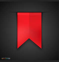 red bookmarks isolated on dark background vector image