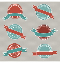 retro styled badges vector image