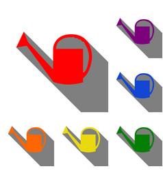 watering sign set of red orange yellow green vector image vector image