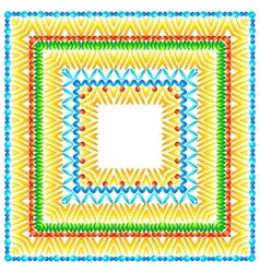 Bright pattern in African style vector image