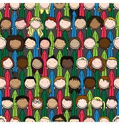 Happy kids pattern vector image