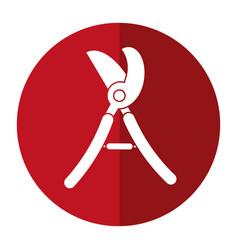 scissors gardening pruner shadow vector image