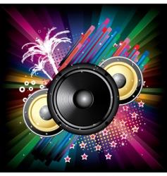 speaker explosion vector image