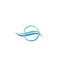 Water air flow cool abstract logo vector