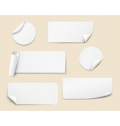 white stickers vector image vector image