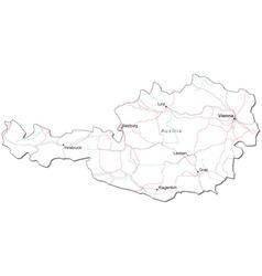 Austria Black White Map vector image vector image