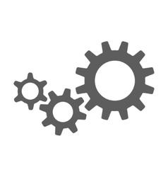 black cogs gears vector image