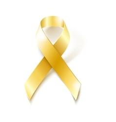 Childhood Cancer Awareness gold ribbon vector image vector image