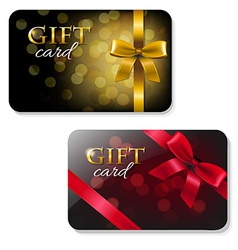 Color Gift Card Set vector image