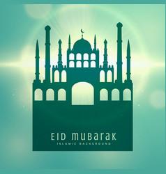 elegant muslim eid festival card design background vector image vector image