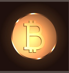 golden bitcoin digital currency vector image