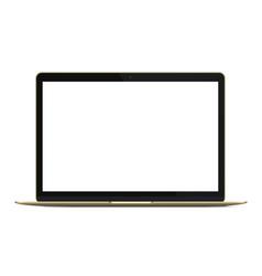modern rich golden ultrabook notebook laptop vector image