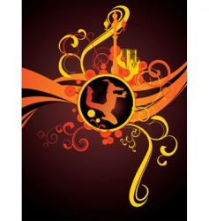 red light city night dance vector image vector image