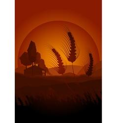 summertime farming vector image