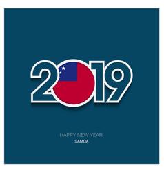 2019 samoa typography happy new year background vector