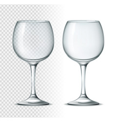3d wine cocktail glass for alcohol drinks vector