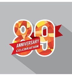 89th Years Anniversary Celebration Design vector